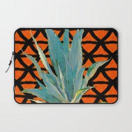 CUMIN ORANGE BLUE DESERT AGAVE CACTI ART Laptop Sleeve