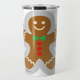 Gingerbread Man Making The Angel In The Snow Travel Mug