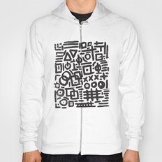 ABSTRACT 4 - BLACK & WHITE Hoody