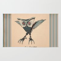 metal Area & Throw Rugs featuring ANGRY BIRD METAL by Diego Verhagen
