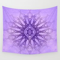 sacred geometry Wall Tapestries featuring Sacred Geometry  Mark Day  by MARK DAY