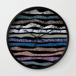 Mineral Stripes Wall Clock