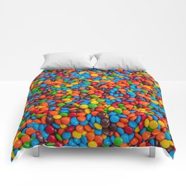 Colorful Candy-Coated Chocolate Pattern Comforters