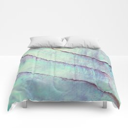 IRIDISCENT SEASHELL MINT by Monika Strigel Comforters