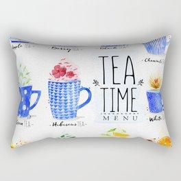Poster tea menu Rectangular Pillow