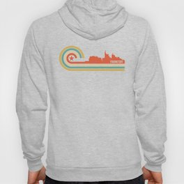 Retro Frankfort Kentucky Skyline Hoody