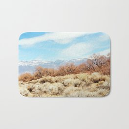 View of the Sierra Nevada Mountains from Highway 395 Bath Mat