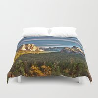 yosemite Duvet Covers featuring Yosemite Mountains, Yosemite National Park, California by Kelly Moncure