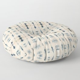 Light Indigo Shibori Floor Pillow