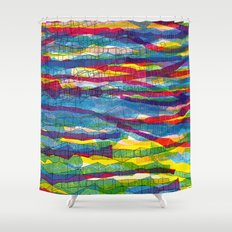 stripes traffic Shower Curtain
