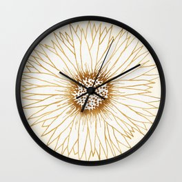 Gold Sunflower Wall Clock