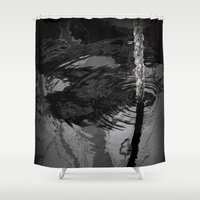 wave Shower Curtains featuring wave by habish
