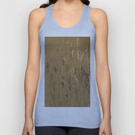 Thin Branches Sepia Unisex Tank Top