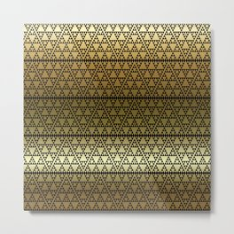 Triangles in Triangles on gold Metal Print