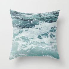 Aquamarine Throw Pillow
