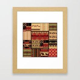 African patchwork. Framed Art Print