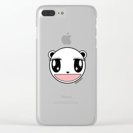 Ecstatic Happy Face Clear iPhone Case