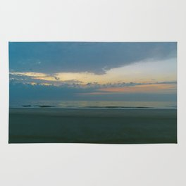 Blue Sunrise on Tybee Island Beach Rug