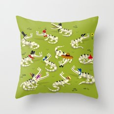 Crocodile Couture Throw Pillow