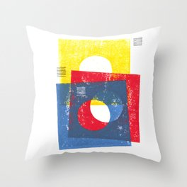 Basic in red, yellow and blue Throw Pillow