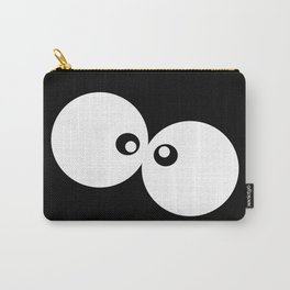 Cartoon Eyes, Googly Eyes - Black White Carry-All Pouch