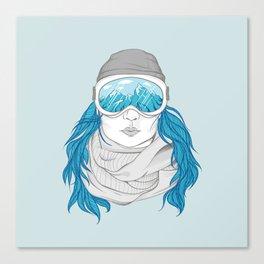 snowboarder girl Canvas Print