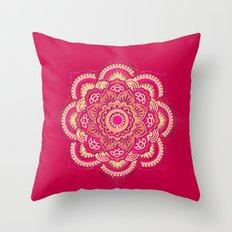 Namaste in Red Throw Pillow