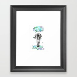 It's the Rain Framed Art Print