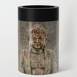 Sitting Buddha On Distressed Metal Background Can Cooler