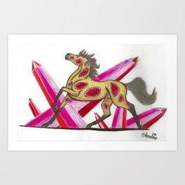 Ruby Horse Art Print