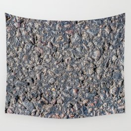 Asphalt and pebbles texture Wall Tapestry