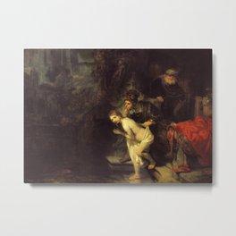 Susanna and the elders Metal Print
