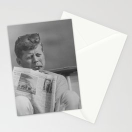 JFK Relaxing Outside Stationery Cards