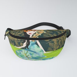 japanese woman in a garden Fanny Pack