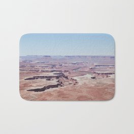 Hazy Desert Canyon Landscape Bath Mat