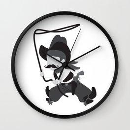 Cute Cowboy with Lasso Wall Clock