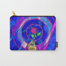 Beauty And The Beast Red Rose Flower Carry-All Pouch
