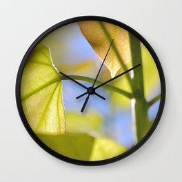 Catalpa leaf Wall Clock