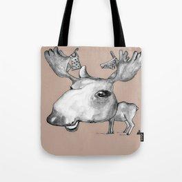 NORDIC ANIMAL - MURIAL THE MOOSE / ORIGINAL DANISH DESIGN bykazandholly  Tote Bag