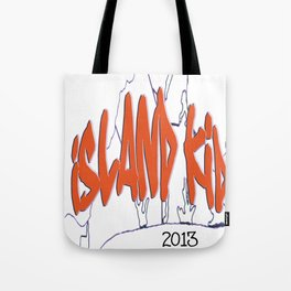 Island Kid sunset orange Tote Bag