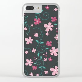 Sophie's Flowers Clear iPhone Case