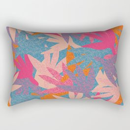 Colorful Cut-Out Leaf Shapes Rectangular Pillow