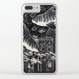 Tidal Waves Clear iPhone Case
