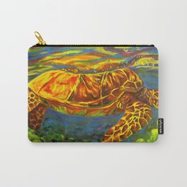 Rainbow Turtle Carry-All Pouch
