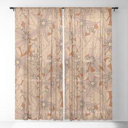 deadly nightshade rust Sheer Curtain