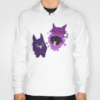 gengar Hoodies featuring Gastly, Haunter, and Gengar by BritAndBran