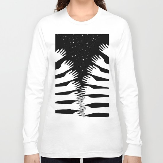 Zipper hand Long Sleeve T-shirt