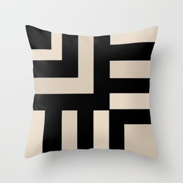 Black and Tan Throw Pillow