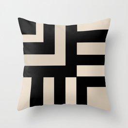 Black and Tan Throw Pillow