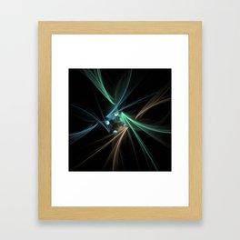 Fractal Convergence Framed Art Print